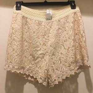 Pants - ♦️NWT♦️Lace Shorts